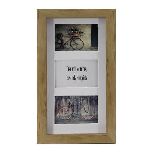 3 IN 1 Wood Look Photo Frame