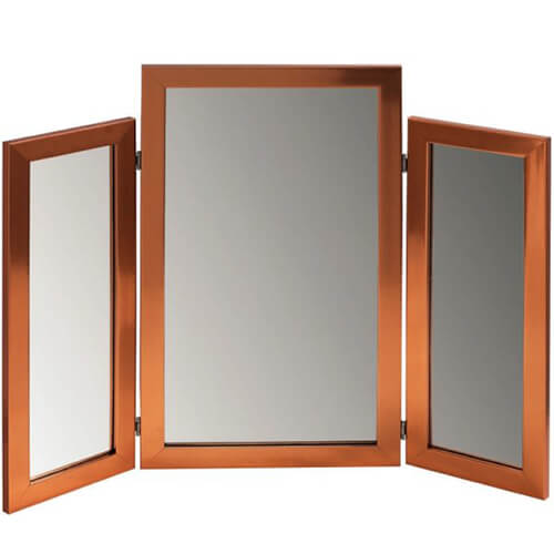 3 Panel Bronze Framed Mirror - The Frame and Art Factory
