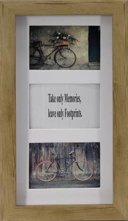 3 in1 Wood Look Photo Frame