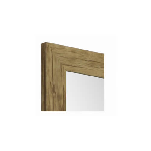 Framed Mirror Wood Look